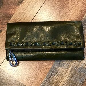 BRIGHTON Olive Green Leather Trifold Wallet